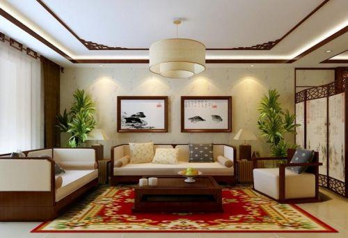 新中式客厅背景墙图片赏析