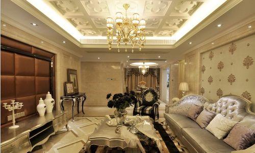 欧式古典客厅吊顶效果图