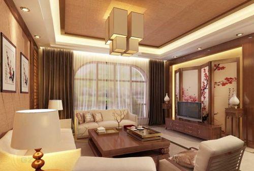 新中式客厅吊顶图片赏析