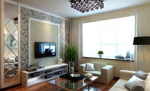 现代简约客厅背景墙设计