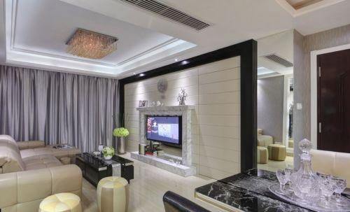 简约风格客厅背景墙设计