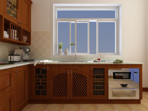 新中式厨房效果图