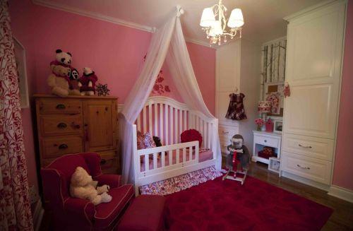 韩式风格儿童房卧室背景墙装修