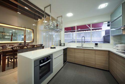 简约开放式厨房图片