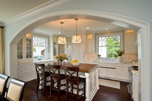 美式厨房装潢效果图
