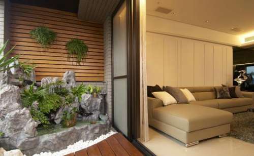 假山小花园设计