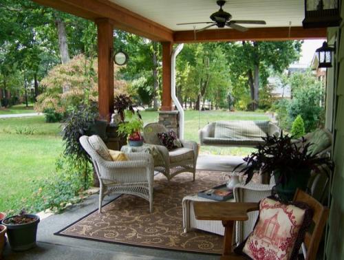 田园悠闲小花园设计