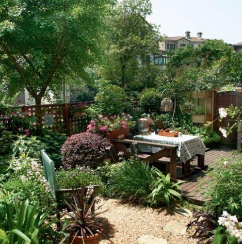 家庭簡約小花園