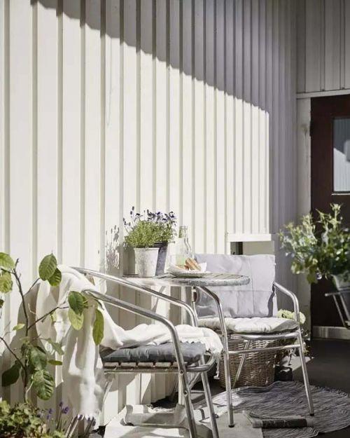 瑞典黑白风装饰阳台