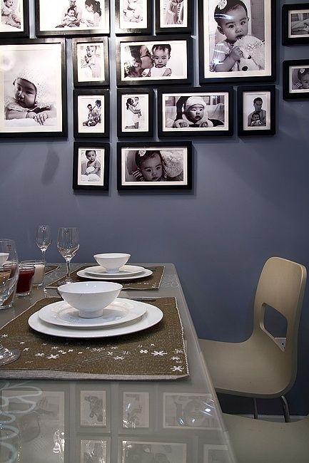 简欧餐厅照片墙设计