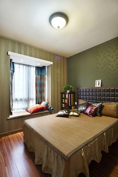 东南亚卧室飘窗效果图
