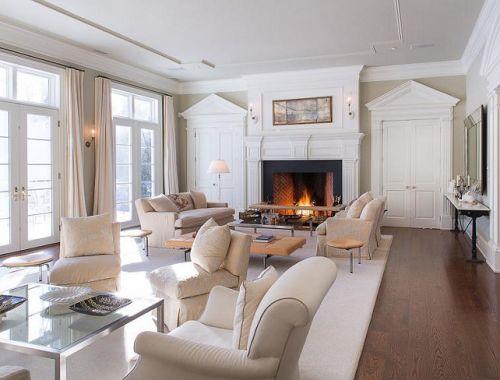 休闲美式客厅壁炉图片