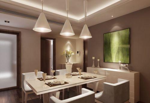 现代简约餐厅灯具效果图
