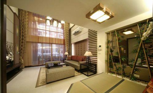 新中式客厅地台效果图