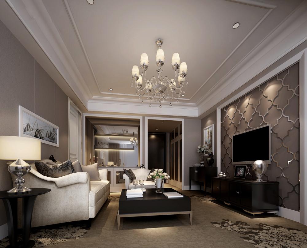 欧式古典风格客厅装修效果图展示