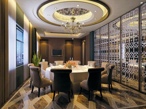 优雅豪华的餐厅效果图