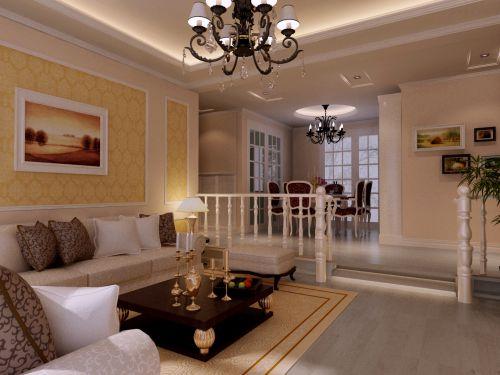 简欧室内客厅装饰效果图