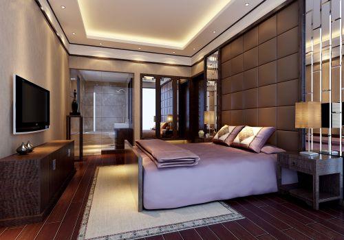 精致新中式卧室布置