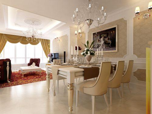 欧式古典餐厅吊顶图片