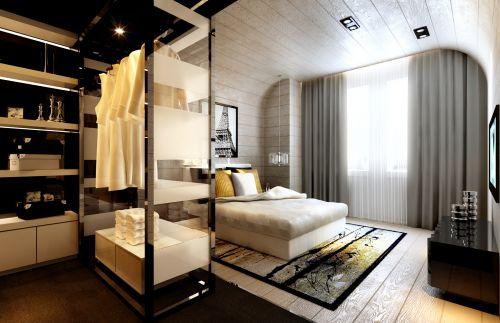 卧室衣柜内部构造设计效果图