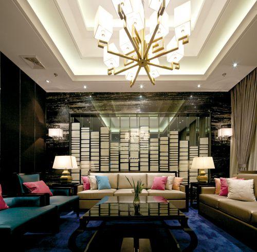 时尚潮流的客厅效果图