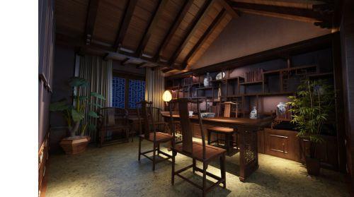 古典书房装修图