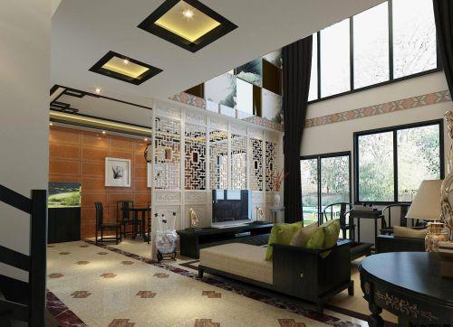 复式楼房中式客厅装修效果图