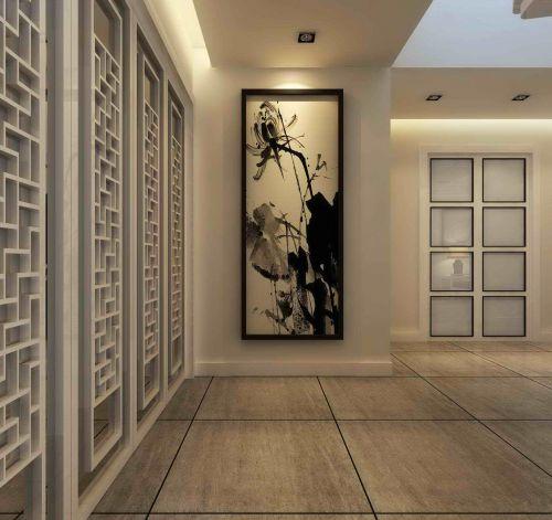 中式玄关装饰画效果图