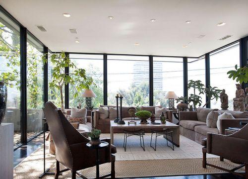 美式田园风格的客厅效果图
