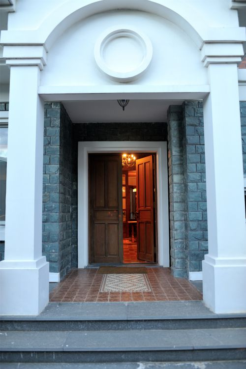 江南风格的门前设计