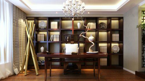 中式书房装修效果图