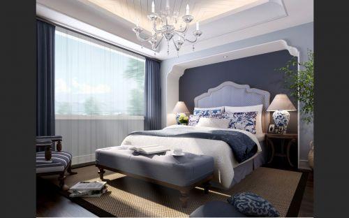 白色豪华的卧室装潢