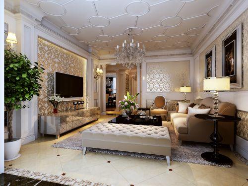 欧式奢华客厅装修效果图