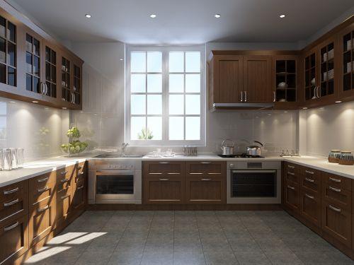 宽敞的中式厨房装修