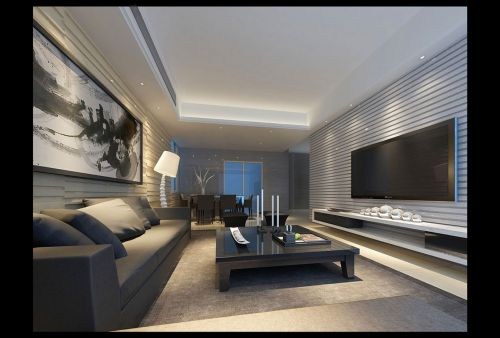 现代简约风格客厅装潢