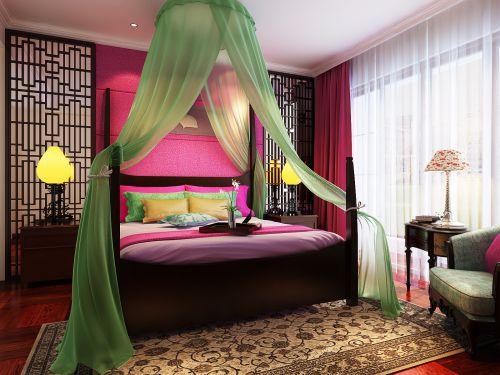 古典有情调的卧室装潢