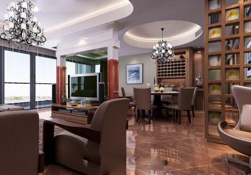 新中式客厅餐厅隔断设计