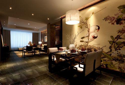 中式有情调的餐厅装潢