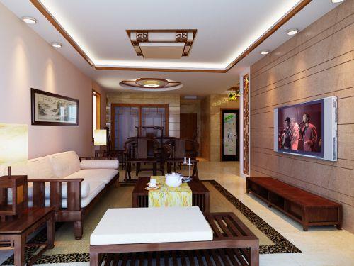 中式古典简约客厅设计