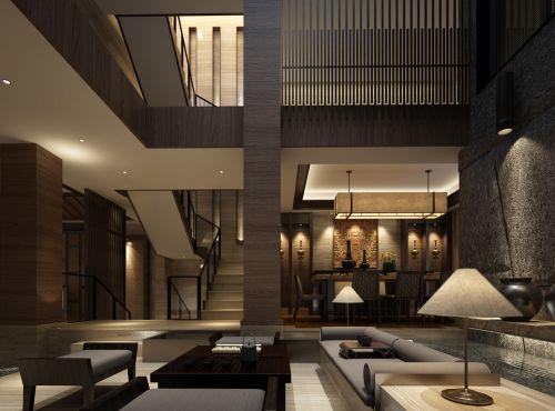 复式住宅中式客厅设计