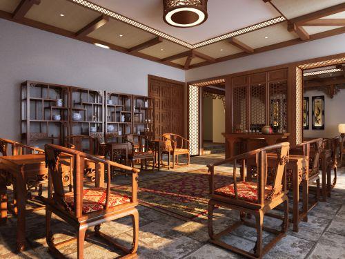 古典的宽敞客厅效果图