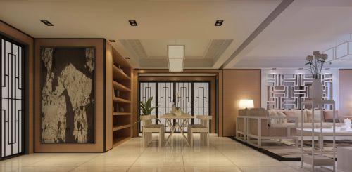 白色宽敞的餐厅设计