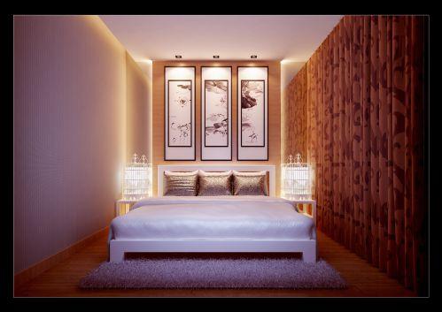 白色的简约卧室装潢