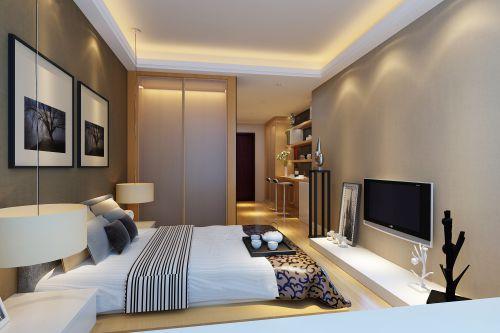 现代简约卧室装潢