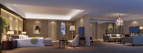简约的卧室和客厅装潢