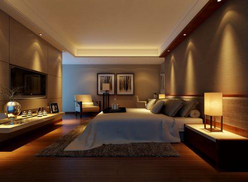温馨简约的卧室效果图