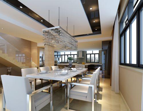 白色干净简约的餐厅设计