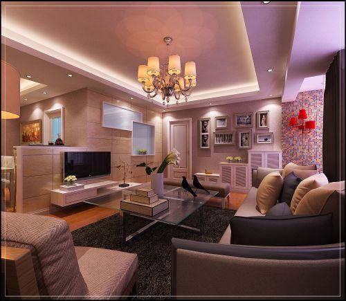 黄色温馨的客厅装潢