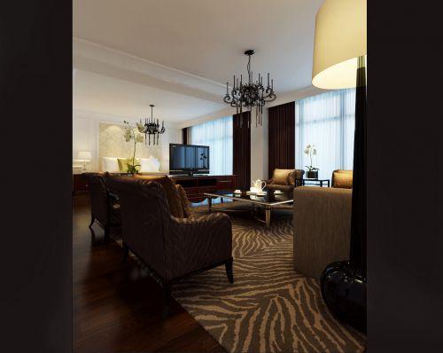 豪华咖啡色的客厅设计