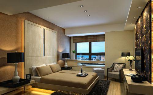 现代温馨的卧室效果图